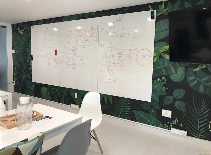 Frameless Korean magetic whiteboard